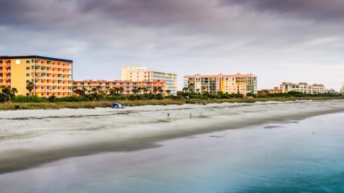 Cocoa Beach Im Zentralen Osten Von Florida
