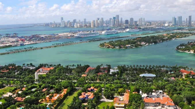 Das Wetter in Miami ist sonnig