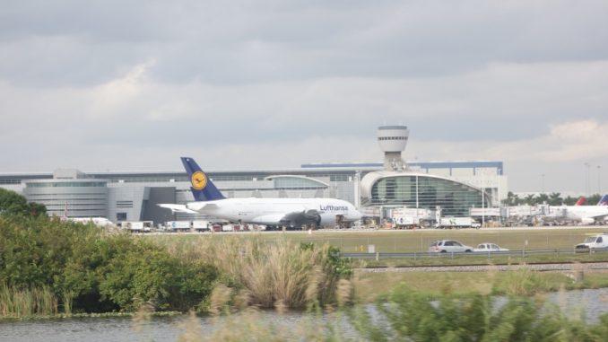 Lufthansa A380 Miami