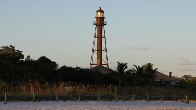 Sanibel Island Lighthouse mit Strand