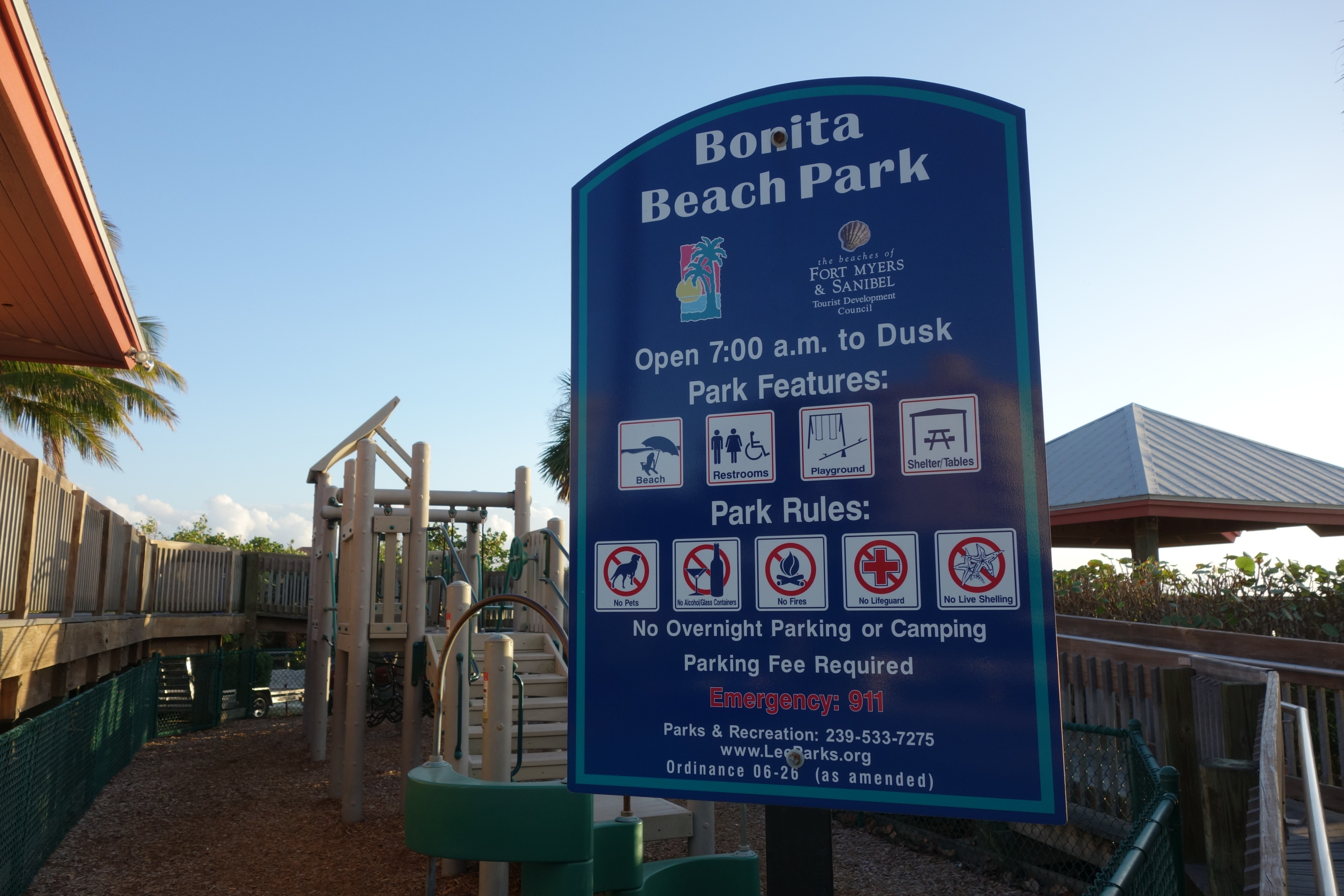 Der Bonita Beach Park in Florida