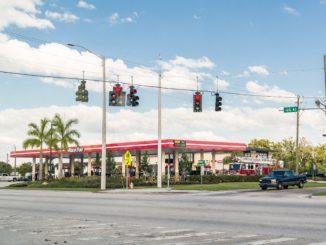 Eine Tankstelle in Florida